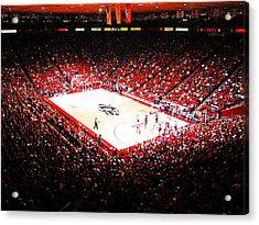 New Mexico Lobos University Arena Acrylic Print by Replay Photos