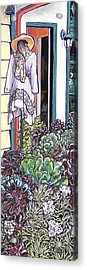New Moon Boutique Acrylic Print by Nadi Spencer