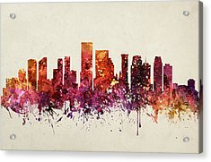 New Orleans Cityscape 09 Acrylic Print by Aged Pixel