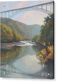 New River Gorge Acrylic Print by Todd Baxter