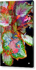 New Year Resolution  Acrylic Print by ARTography by Pamela Smale Williams