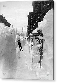 New York: Blizzard Of 1888 Acrylic Print by Granger