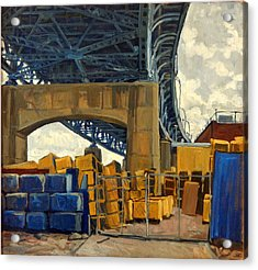 New York Blue Acrylic Print by Thor Wickstrom