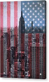 New York City American Pride Acrylic Print by Dan Sproul