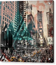 New York City Geometric Mix No. 4 Acrylic Print by Melanie Viola