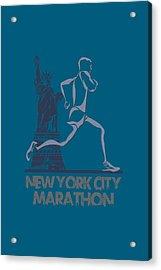 New York City Marathon3 Acrylic Print by Joe Hamilton