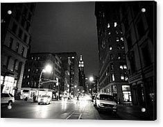 New York City - Midnight Acrylic Print by Vivienne Gucwa