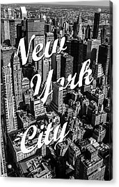 New York City Acrylic Print by Nicklas Gustafsson