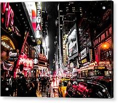 New York City Night II Acrylic Print by Nicklas Gustafsson