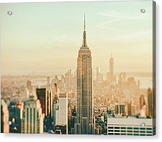 New York City - Skyline Dream Acrylic Print by Vivienne Gucwa