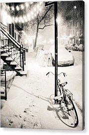 New York City - Snow Acrylic Print by Vivienne Gucwa