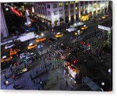 New York City Street Miniature Acrylic Print by Nicklas Gustafsson