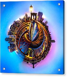 New York Heartbeat Acrylic Print by Az Jackson