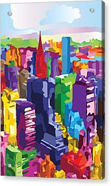New York, Manhattan Acrylic Print by Inge Lewis