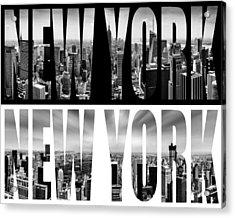 New York New York Acrylic Print by Az Jackson