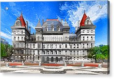New York State Capitol Acrylic Print by Lanjee Chee