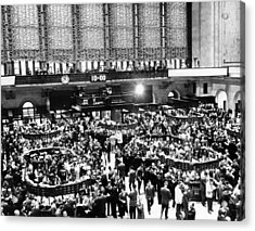 New York Stock Exchange During Heavy Acrylic Print by Everett