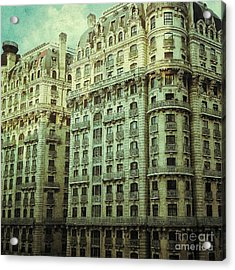 New York Upper West Side Apartment Building Acrylic Print by Amy Cicconi