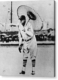 New York Yankees. Babe Ruth, Holding Acrylic Print by Everett