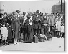 Newly Arrived European Immigrants Acrylic Print by Everett