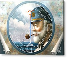 News  Map Captain  Or  Sea Captain Acrylic Print by Yoo Choong Yeul