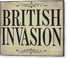 Newspaper Headline British Invasion Acrylic Print by Mindy Sommers
