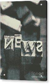Newspaper Printing Press Art Acrylic Print by Jorgo Photography - Wall Art Gallery