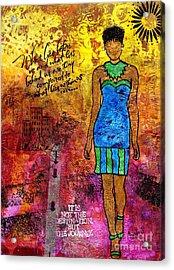 Next Steps Acrylic Print by Angela L Walker