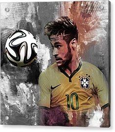 Neymar 051a Acrylic Print by Gull G