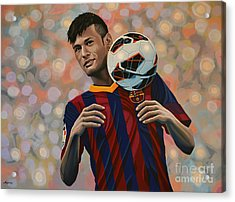 Neymar Acrylic Print by Paul Meijering