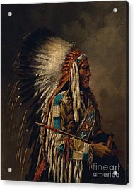 Nez Perce Chief Acrylic Print by Celestial Images