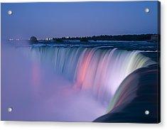 Niagara Falls At Dusk Acrylic Print by Adam Romanowicz