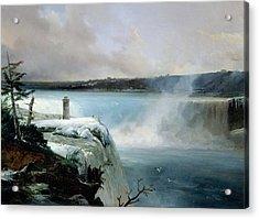Niagara Falls Acrylic Print by Jean Charles Joseph Remond
