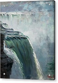 Niagara Falls Ny Acrylic Print by Ylli Haruni