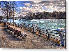Niagara Rapids In Early Spring Acrylic Print by Tammy Wetzel