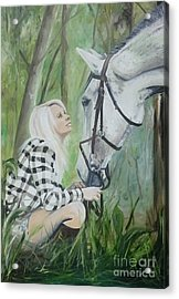 Nicole And Cellie Acrylic Print by Isabella Abbie Shores