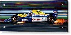 Nigel Mansell Williams Fw14b Acrylic Print by David Kyte