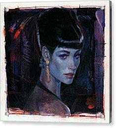 Night Club Girl 1 Acrylic Print by Bill Mather