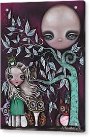 Night Creatures Acrylic Print by  Abril Andrade Griffith