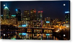 Night In The City Of Brotherly Love Acrylic Print by Louis Dallara