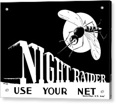 Night Raider Ww2 Malaria Poster Acrylic Print by War Is Hell Store