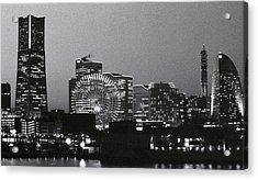 Night Scene Of Yokohama Acrylic Print by Snap Shooter jp