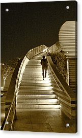 Night Time Stairway Acrylic Print by Ben and Raisa Gertsberg