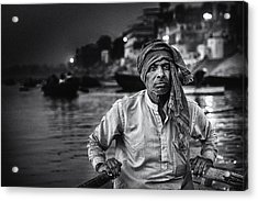 Nights On The Ganges Acrylic Print by Piet Flour