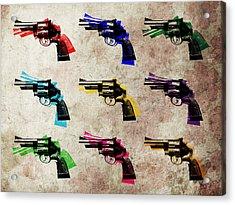 Nine Revolvers Acrylic Print by Michael Tompsett