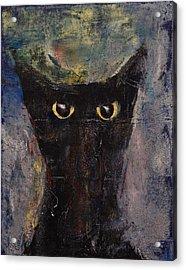 Ninja Cat Acrylic Print by Michael Creese