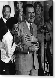 Nixon Presidency.  Sammy Davis Jr Acrylic Print by Everett