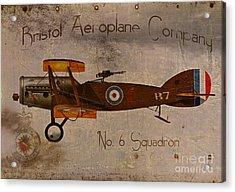 No. 6 Squadron Bristol Aeroplane Company Acrylic Print by Cinema Photography