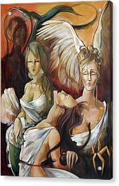 No Rest For Hera's Wicked Acrylic Print by Jacque Hudson