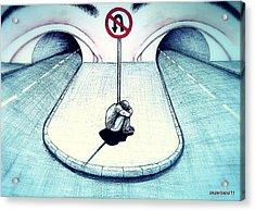 No Return Acrylic Print by Paulo Zerbato